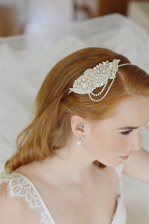 KRYSTAL Vintage Inspired Bridal Headband