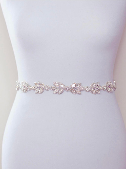AURORA  Elegant Crystal Wedding Dress Belt