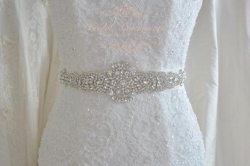 FRANCE Vintage Inspierd Crystal Bridal Sash