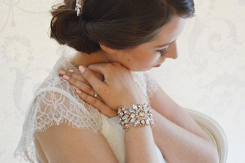 New Rose Gold Crystal Bridal Cuff