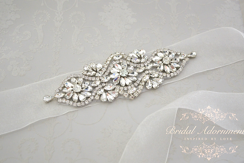 AMELIE Crystal Bridal Belt/Sash