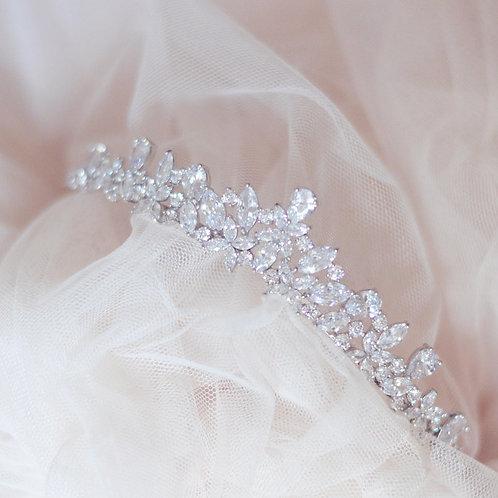 Eugenia Stunning Cubic Zirconia Bridal Tiara