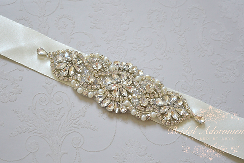 VERONA Vintage Inspired Rhinestone Bridal Belt