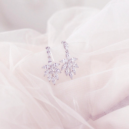 Divine Cubic Zirconia Bridal Earrings