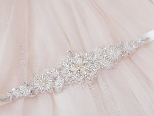 ELSA Vintage inspired Crystal Bridal Sash/Belt