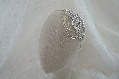 ADELE Art Deco Vintage Crystal Bridal Headband