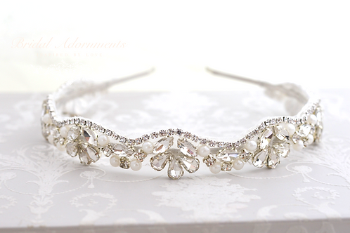 """MARIA"" Crystal Bridal Headband,Headpiece"