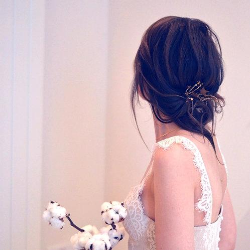 Romantic Golden Shooting Star Hair Pins