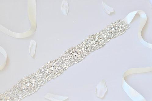 GENEVIEVE Luxury Crystal Wedding Dress Belt/Sash