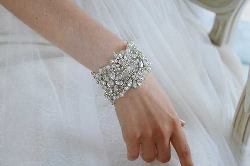 """MABEL"" Crystal Bridal Cuff"