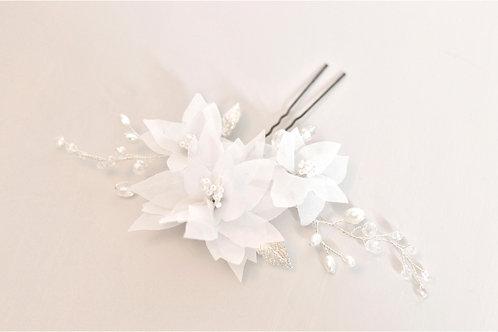 WHITE Bridal Flower Adornment