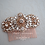 Thumbnail: ADELAIDE Rose Gold Crystal Bridal Hair comb