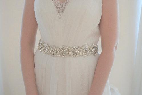 ADELE Vintage Inspired Crystal Bridal Belt/Sash