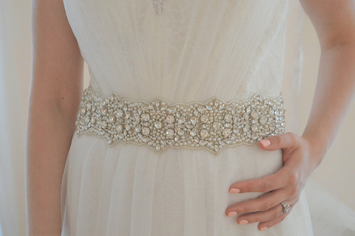 BERNICE Crystal Bridal Sash,Belt