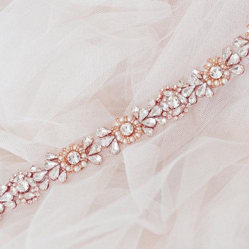 ZAINA Rose Gold Wedding Dress Belt