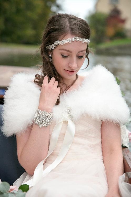Vintage Inspired Genuine Marabou feather Bridal Shrug/Wrap