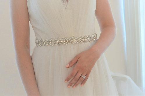 ALEXIA Vintage Inspired Slim Wedding Dress Belt
