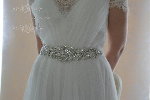 DOCIA Vintage Inspired Crystal Bridal Sash