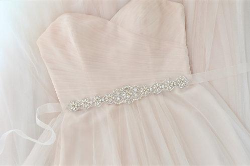"""""""EVANGELINE"""" Crystal Vintage Bridal Sash/Belt"""