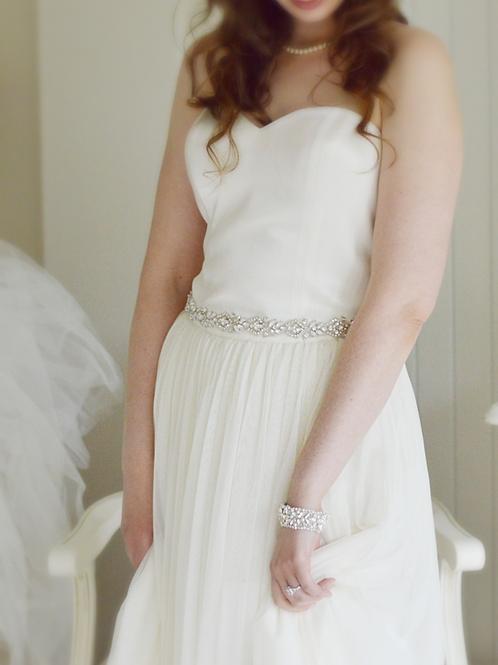 VALENTINA Vintage Inspired Wedding Dress Belt/Sash