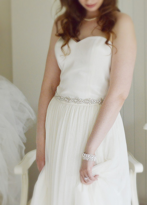 VALENTINA Vintage Inspired Wedding Dress Belt/Sash