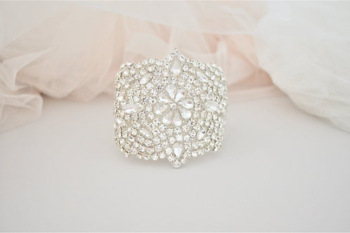 PHILIPPA Vintage Inspired Crystal Bridal Cuff
