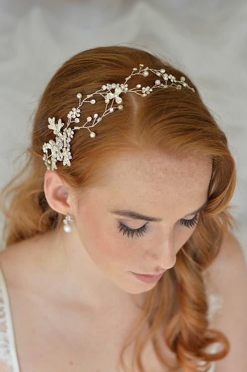 Gorgeous Silver Headband Hair Vine