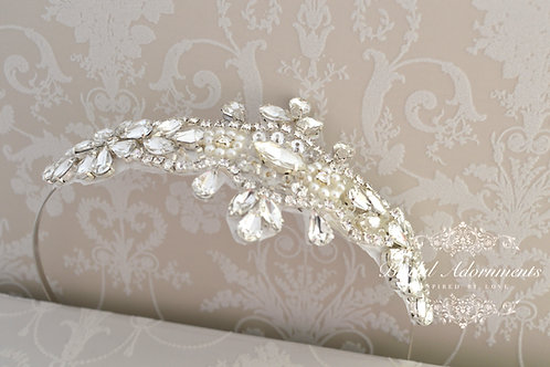 IRENE Vintage Inspired Crystal Bridal Headband
