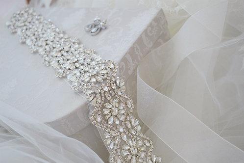 Victoria Vintage Inspired Crystal Bridal Sash/Belt