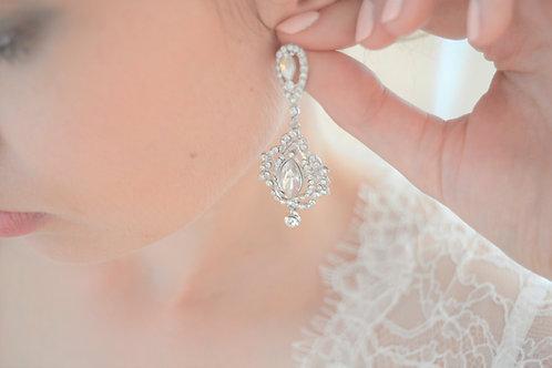 AUGUSTA Vintage Treasure Crystal Bridal Earrings