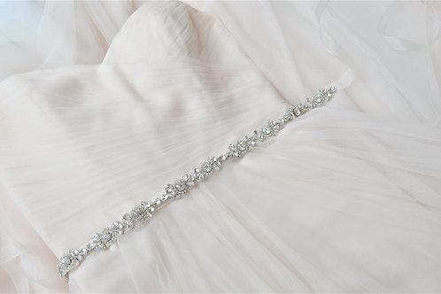 BRIELLE Crystal Vintage Inspired Bridal Belt/Sash