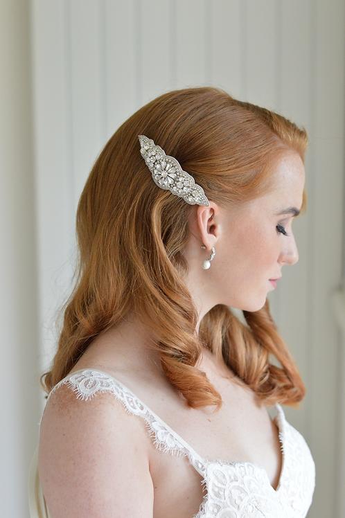 BELINDA Crystal Vintage Inspired Bridal Hair Comb