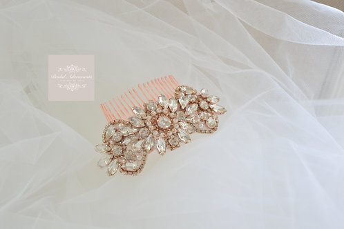 MARIE Vintage Inspired Rose Gold Bridal Hair co