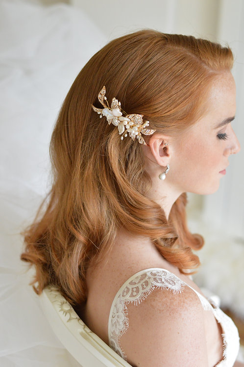 Gold Romantic Bridal Hairpiece