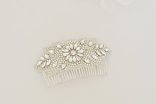 FLORIANA Large Crystal Vintage Inspired Bridal Hair Comb