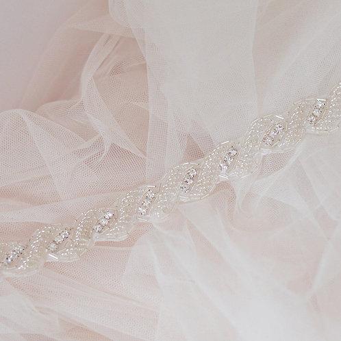 """""""JOSEPHINE"""" Vintage Crystal Bridal Sash/Belt"""