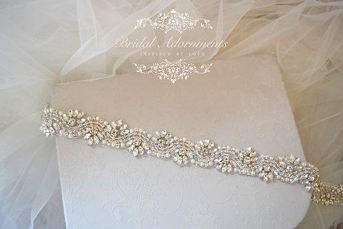 """""""LILLIE"""" Vintage Inspired Wedding Dress Belt"""