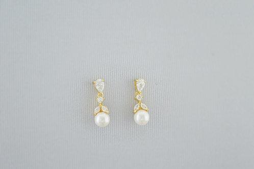 CHARLOTTE Gold Cubic Zirconia Bridal Earrings