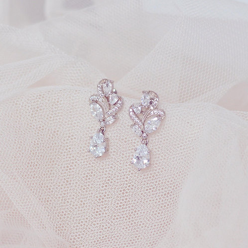 BERNICE Cubic Zirconia Bridal Earrings