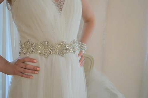 BLANCHE Crystal Wedding Dress Belt/Sash