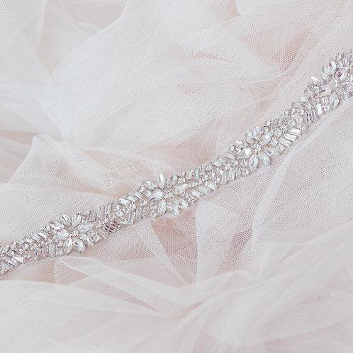 LUCINDA Art Deco Crystal Bridal Belt/Sash