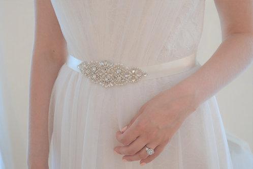 LUELLA Pearl and Crystal Bridal Sash/Belt