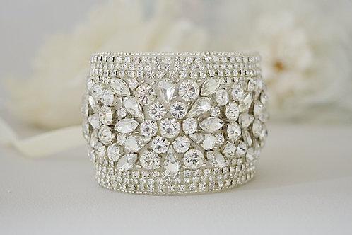 JOVI Vintage Inspired Crystal bridal cuff/bracelet