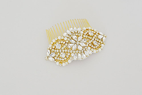ADELE Gold bridal hair comb