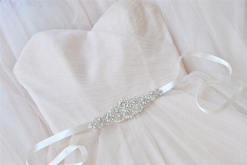 AURELIA  Vintage Crystal Bridal Sash/Belt