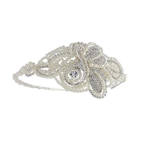 CAMBRIE Vintage Inspired Pearl Bridal Headband