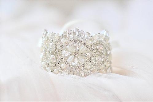 CHLOE Crystal & Pearl Vintage  Bridal Cuff