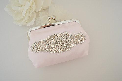 GRACE Ballet Pink Kiss Lock Bridal Bag