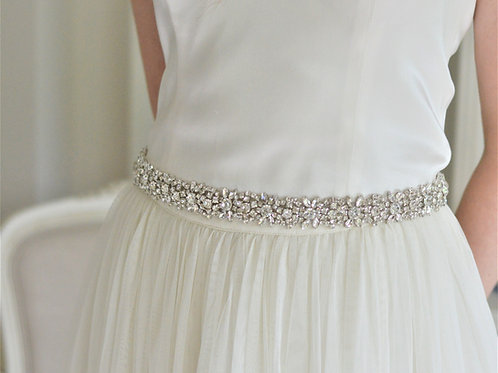 NINA Crystal Bridal Belt Wedding Dress Sash