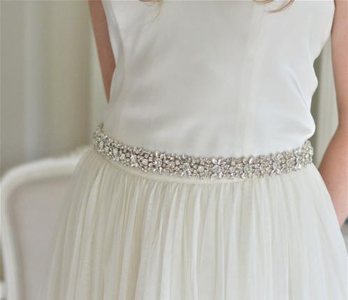 NINA Crystal Bridal Belt Wedding Dress Sash